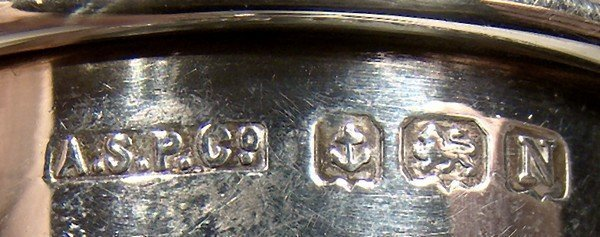 Individual STERLING SILVER EGG CUP Birmingham 1937 J Monogram Eggcup