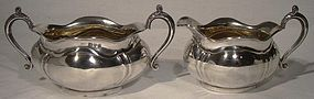 Queensland Bulldog Club Award STERLING SILVER CREAM & SUGAR 1916