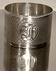 Ornate STERLING NAPKIN RING 1932 with CUTOUT MONOGRAM