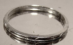 Art Deco 14K WHITE GOLD WEDDING BAND 1920s 14 K Ring