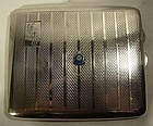 Sterling Silver Cigarette Case RCAF Enamel Crest Can. Air Force 1937