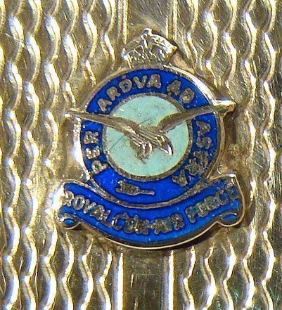 Sterling Silver Cigarette Case RCAF Enamel Crest Can. Air Force 1937