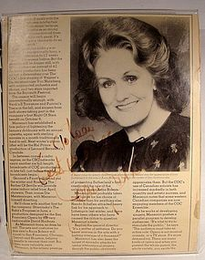 JOAN SUTHERLAND AUTOGRAPHED ARTICLE - Opera