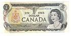 CANADA 1973 One Dollar REPLACEMENT NOTE - Scarce GU Prefix UNC