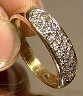 Elegant 14K PAVE DIAMONDS RING - Great Flash