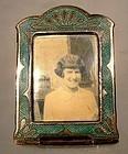 Edwardian ENAMEL MINIATURE STANDUP PICTURE FRAME 1910 1920