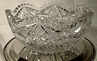 Signed RODEN BRILLIANT CUT CRYSTAL BOWL c1900
