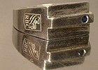 Unusual ROYAL BANK OF CANADA STERLING SAPPHIRE RING