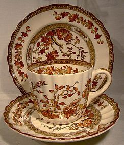 Spode England India Tree Cup, Saucer and B&B Trio 1910