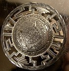 Large MEXICAN STERLING MAYAN CALENDAR PIN c1950s