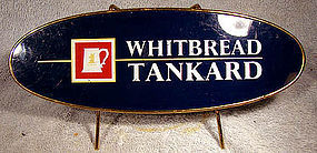 WHITBREAD TANKARD BEER PUB or BAR SIGN 1950s-60s