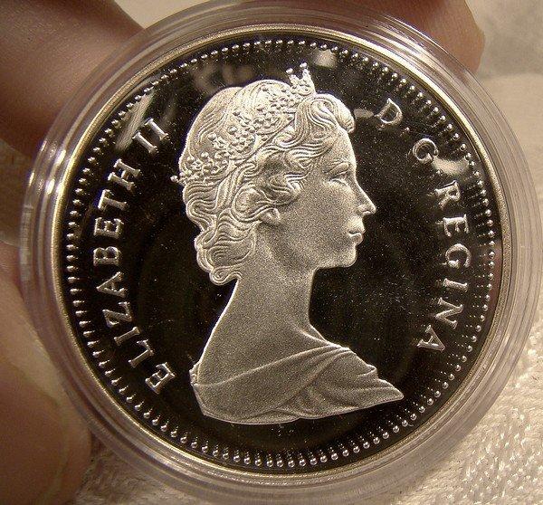 1989 CANADA MACKENZIE'S VOYAGE SILVER DOLLAR in CASE