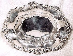 Superb E.G. WEBSTER SILVER PLATED FRUIT BOWL c1890