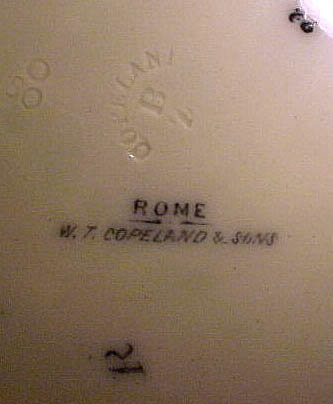 "4 Copeland ROME 8-1/2"" BREAKFAST PLATES c1880"