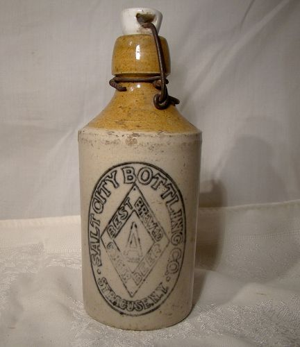 Salt City Diamond Syracuse Ginger Beer Bottle