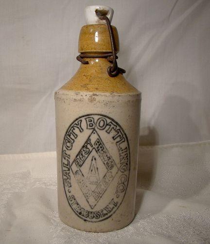 Salt City Diamond Syracuse Ginger Beer Bottle