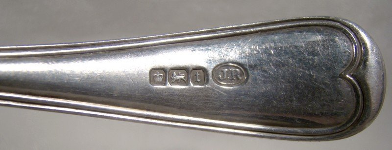 John Round Sterling Silver Gravy Ladle Sheffield 1911 - Birks Saxon