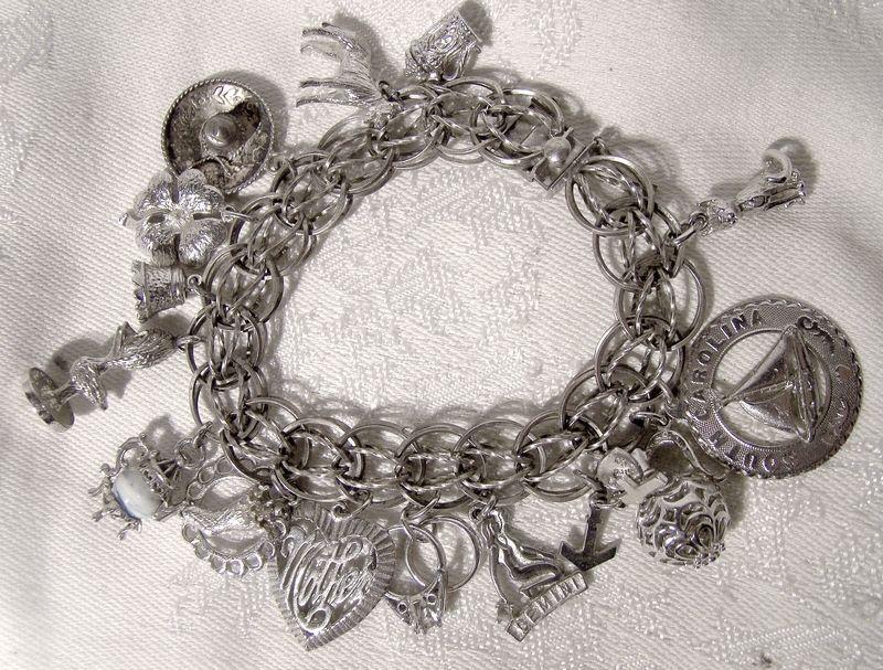 Twist Sterling Silver Charm Bracelet