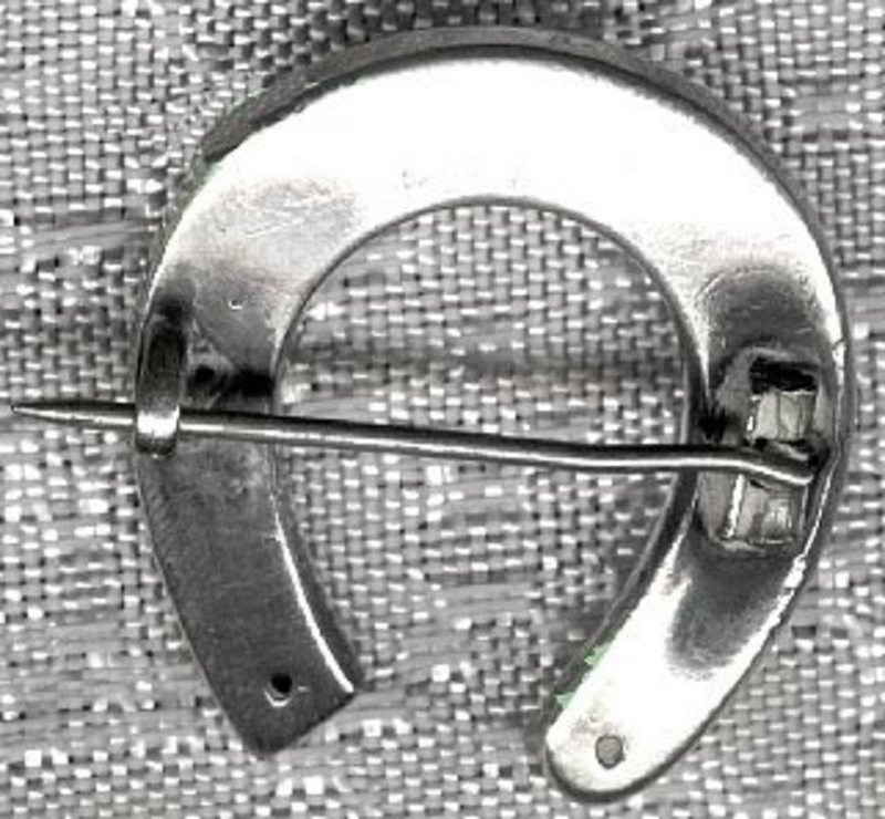 Victorian GOOD LUCK STERLING HORSESHOE PIN c1880s