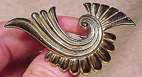 RETRO GILT STERLING PIN BROOCH 1940s