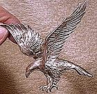Large SP FLYING EAGLE COAT PIN c1930s