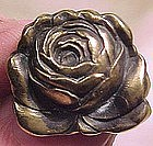 Art Nouveau GILT STERLING SILVER ROSE PIN 1890 1900