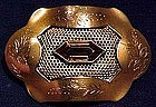 Superb GP SASH PIN with AMBER CUT STONE c1900-10