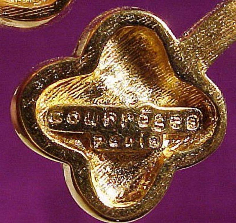 Vintage Signed COURREGES PARIS GP FLOWER PIN