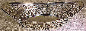 Fine ENGLISH STERLING PIERCED MINT OR CANDY BASKET 1907