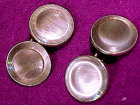 GREY ABALONE SHELL CUFFLINKS c1910-20