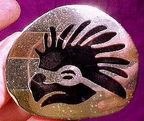 METALES CASADOS MEXICAN STERLING PIN w/ BIRD c1950-60