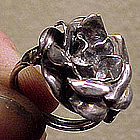 Art Nouveau Sterling FLOWER RING c1900-20