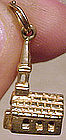 Vintage 10K Yellow Gold SOLID GOLD CHURCH CHARM