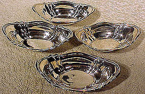 Set of Four BIRKS STERLING NUT or MINT DISHES 1940s-50s