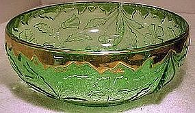 US Glass GREEN DELAWARE EAPG FRUIT BOWL c1899