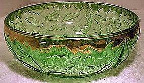 US Glass GREEN DELAWARE EAPG FRUIT BOWL c1899