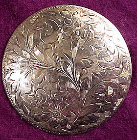 W.E. Richards ENGRAVED STERLING BROOCH
