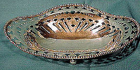 Roger Williams STERLING FOOTED OPENWORK BOWL 1905