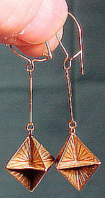 Elegant 14K DROP EARRINGS c1920s-30s