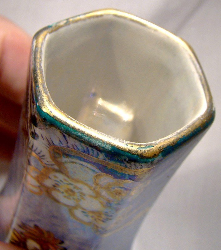 Royal Winton BYZANTA WARE LUSTRE HATPIN HOLDER c1920s
