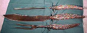 Simpson Hall Miller 3 Pc. SP HORN HANDLE CARVING SET