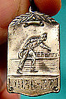 STERLING BOWLING AWARD TROPHY FOB PENDANT 1936-7