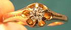Edwardian 14K FLOWER STYLE DIAMOND RING 1900 1910