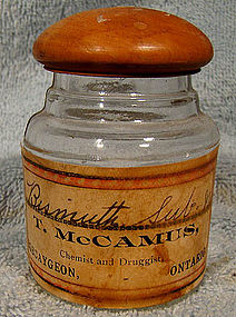 McCAMUS BOBCAYGEON ONTARIO MEDICINE CHEMICAL BOTTLE 1900