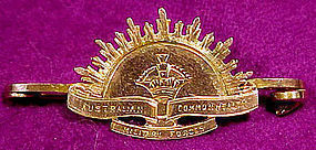 9K AUSTRALIAN COM. MILITARY FORCES AIF RISING SUN PIN
