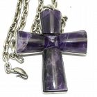 "William Spratling Amethyst Cross Taxco Sterling Silver Necklace 20"""