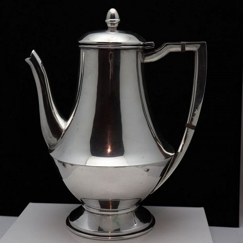 Rare Hector Aguilar Sterling Silver Coffee / Tea Pot Square Handle