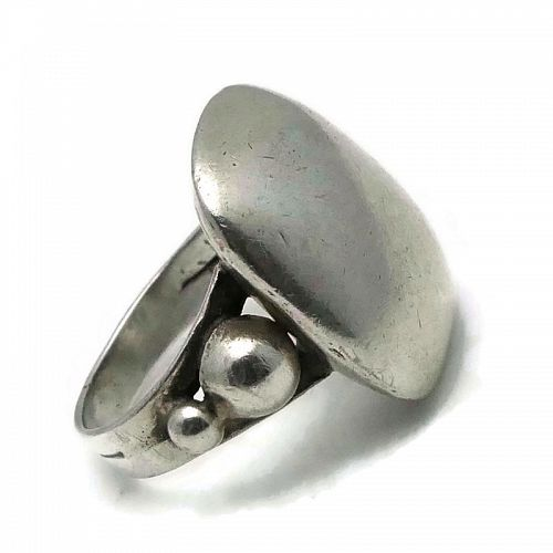 1930's William Spratling Taxco Mexican 980 Silver Ring