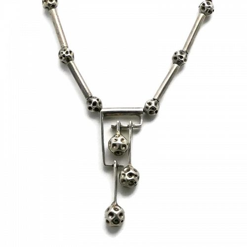 Erika Hult de Corral Sterling Silver Taxco Kinetic Necklace 28.5""