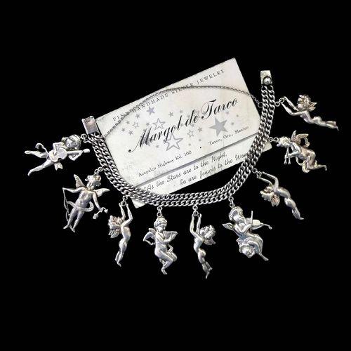 Margot de Taxco #5441 Mexican Charm Bracelet Sterling Silver